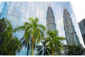 Modern blue glass building