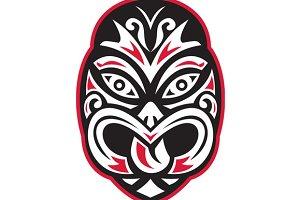maori tiki moko tattoo mask