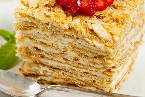Puff Pastry Napoleon Cake