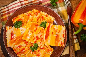 Pumpkin Gourmet Pasta Ravioli