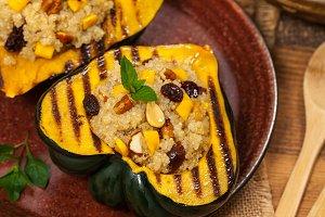 Pumpkin Stuffed with Quinoa