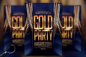 Gold Party | Urban Flyer Template
