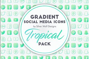 Social Media Icons | Tropical Pack