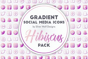 Social Media Icons | Hibiscus Pack
