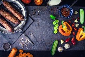 Kebabs with vegetable