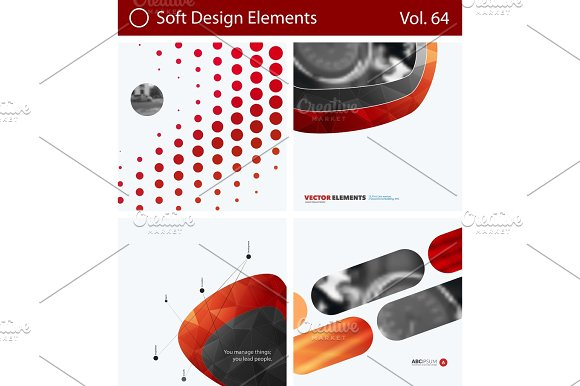 Set Of Abstract Vector Design Elements For Graphic Layout Modern Business Background Template