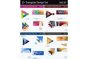 Set of Abstract vector design elements for graphic layout. Modern business background template