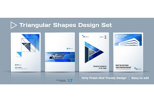 Set of Abstract business design, annual report, vector template brochure.