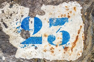 Number 23 painted on the pavement