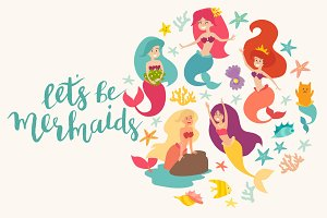 Mermaid characters vector bundles