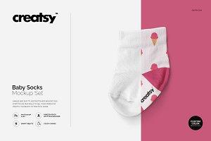 Baby Socks Mockup Set