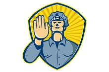 Policeman Police Officer Hand Stop S