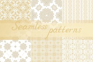 24 seamless vector ornaments