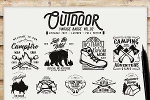 Outdoor Vintage Badge Vol.2