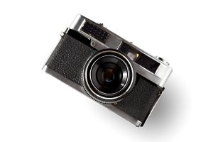 Old rangefinder vintage camera
