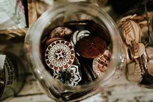 Decorative Sewing Buttons in a Jar