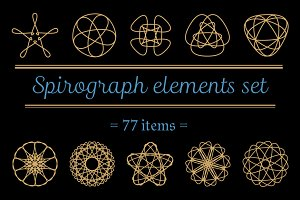 77 spirograph elements set