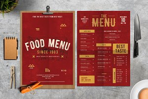 Rustic Food Menu