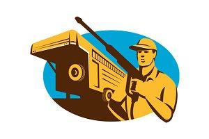 Pressure Washer Cleaner Worker Trail