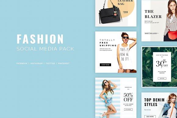 fashion social media pack social media templates creative market