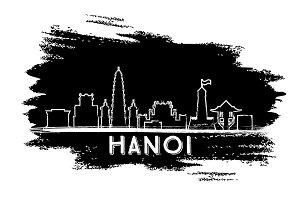 Hanoi Skyline Silhouette.