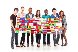 Multi-ethnic Group Of Young Adults