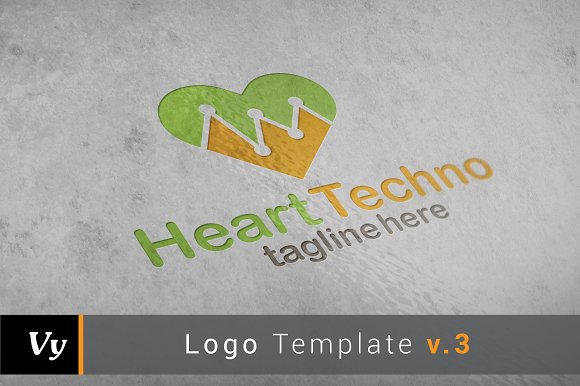 Heart Techno Logo