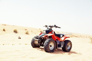 Quad Bike On Sand Dune