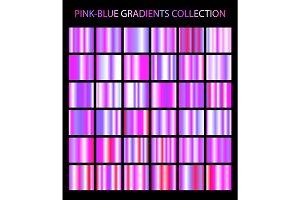 36 pink and blue gradients