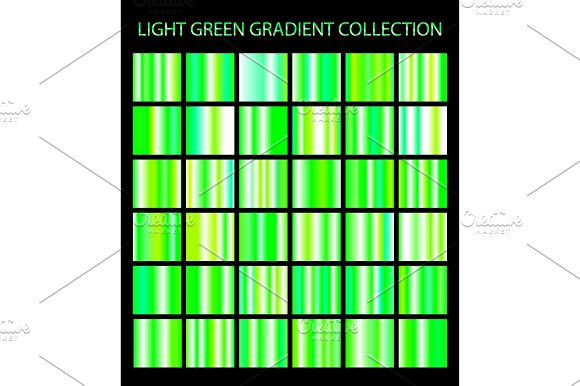 36 Light Green Gradients