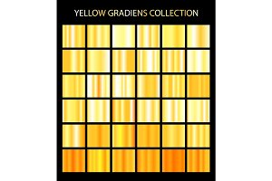 36 yellow color gradients