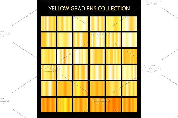 36 Yellow Color Gradients