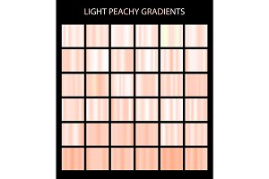 36 light peachy gradients