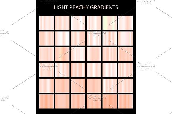 36 Light Peachy Gradients