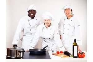 Team Of Chefs In Their Kitchen
