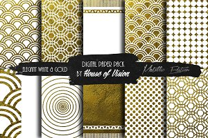 Elegant Wht and Gold Pack