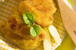 croquettes with lemon