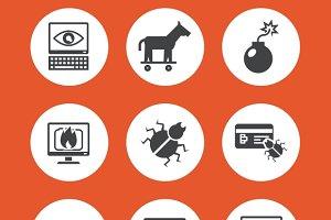 Computer Threats Icons