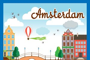 Vector Amsterdam City Background