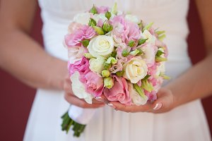 Wedding bouquet or roses