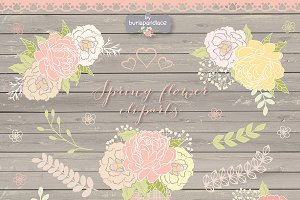 Spring flower cliparts