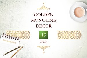 4. Set Of Vector Monoline Decor