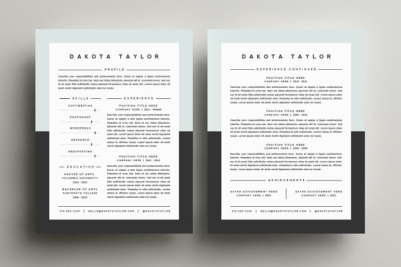 resume template 4 pack cv template resume templates creative