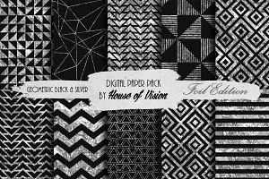 Geometric Blk and Silver Pack