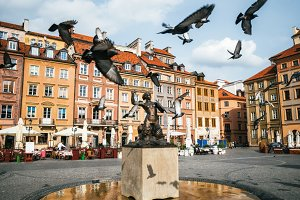 Mermaid Syrena Statue in Warsaw