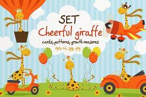 Set Cheerful giraffe