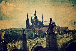 Prague monuments.