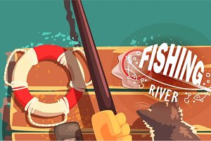 Fishing Illustrations With Only Hands Visible