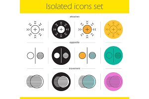 Abstract symbols icons set