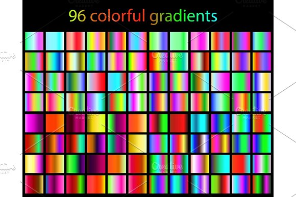 96 Bright Colorful Gradients